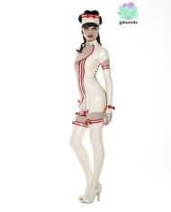 Nurse Latex Mini Dress – Lotuscede