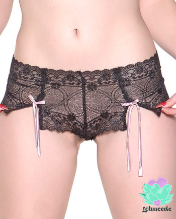 Black Lace Hot Pants - sexy lingerie - lotuscede.co.za