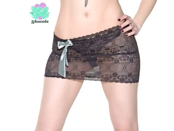 Black Lace Skirt - Sexy Designer Lingerie - lotuscede.co.za