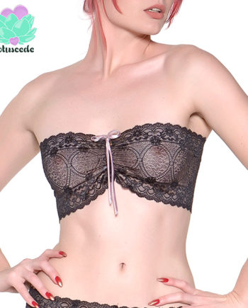 Black Lace Strapless Bra - Sexy Lingerie - lotuscede.co.za
