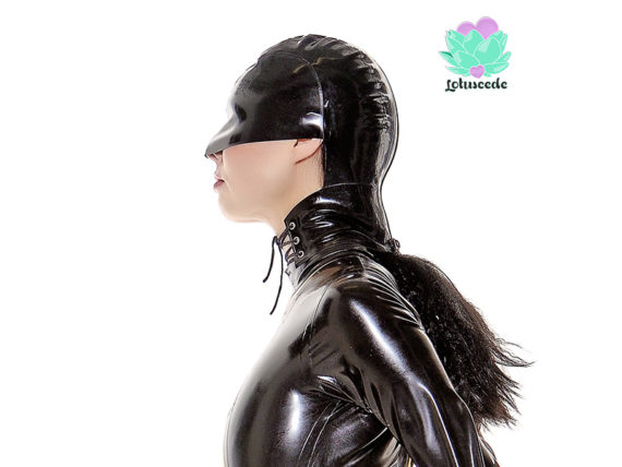 Luci Closed Eyes Latex Hood - lotuscede.co.za