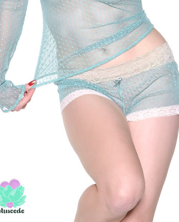 Mint Green Mesh Shorts - Sexy Designer Lingerie - lotuscede.co.za