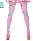 Miss Muffet Light Pink Latex Stockings - lotuscede.co.za