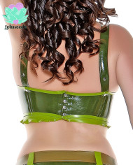 Camo Latex Top – Green Latex Bra – Sexy Designer Fantasy Latex Outfits – Lotuscede