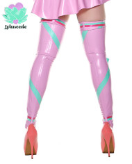 Miss Muffet Light Pink Latex Stockings – Sexy Designer Fantasy Latex Outfits – Lotuscede