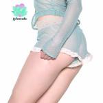 mint mesh shorts lingerie