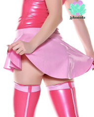 Miss Muffet Latex Skirt Pink – Sexy Designer Fantasy Latex Outfits – Lotuscede