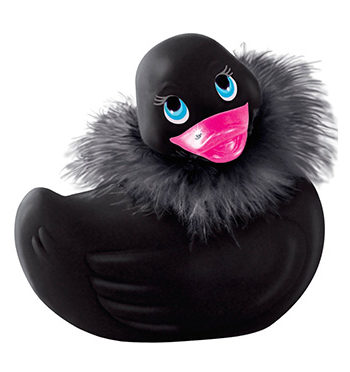 Black Paris Duckie Clitoral Vibrator - I Rub My Duckie - Lotuscede