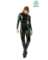 Avenger Latex Catsuit – Black (Full-Body) – Sexy Designer Fantasy Latex Outfits – Lotuscede