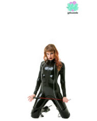 Black Avenger Latex Catsuit – Sexy Designer Fantasy Latex Outfits – Lotuscede
