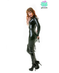 Black Latex Catsuit – Sexy Designer Fantasy Latex Outfits – Lotuscede
