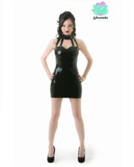 Black Collared Latex Dress – Sexy Designer Fantasy Latex Outfits – Lotuscede