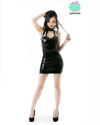 Collared Latex Dress