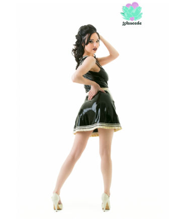 latex french maid outfit