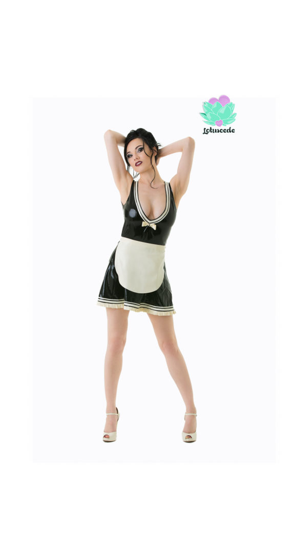 Latex French Maid Dress - Sexy Designer Fantasy Latex - Lotuscede