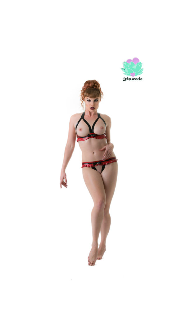 Tiny Latex Set - Bikini & G-String - Sexy Designer Fantasy Latex Outfits - Lotuscede