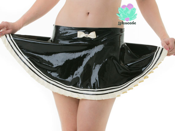 French maid latex skirt