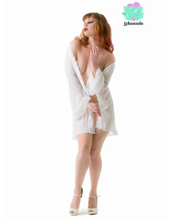 White Georgette Gown Short - Sexy Lingerie - Lotuscede