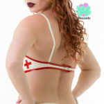 latex nurse bra