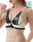 Striped Latex Bra - Sexy Designer Latex - Lotuscede