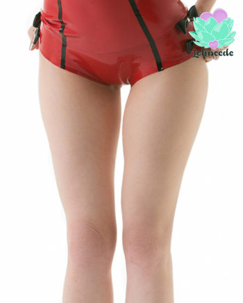 Sweetheart Latex Hot Pants Red - Sexy Designer Latex - Lotuscede