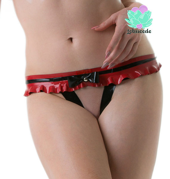 tiny latex g-string